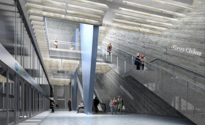 Niveau -4 : vue depuis le quai, direction Cesson Viasilva
